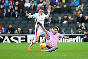 Readings Danny Williams  goes to ground during the Sky Bet Championship match between Milton Keynes Dons and Reading at stadium:mk, Milton Keynes, England on 16 January 2016. Photo by Dennis Goodwin.