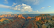 VIEW FROM CAPE ROYAL, NORTH RIM, GRAND CANYON, ARIZONA, Panorama, sunset