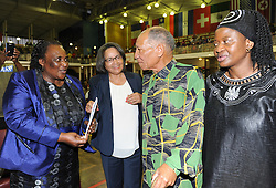 December 9, 2013 - Cape Town, Western Cape, South Africa - The City of Cape Town hosted an Evening of Remembrance at the OR Tambo hall, Khayelitsha for the late former President of South Africa, Nelson Mandela. Minister of Labour, MILDRED OLIPHANT, Executive Mayor of Cape Town, PATRICIA DE LILLE, DR DON MATTERA and Deputy Minister, ZOU KOTA-FREDERICKS. (Credit Image: © Roger Sedres/Images SA/ZUMAPRESS.com)