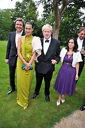 Left to right, SIMON & YASMIN LE BON, BORIS JOHNSON and his wife MARINA at the Raisa Gorbachev Foundation fourth annual fundraising gala dinner held at Stud House, Hampton Court, Surrey on 6th June 2009.
