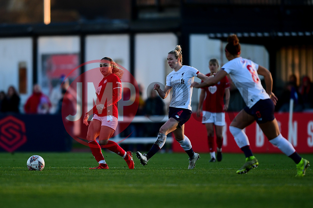 Ebony Salmon of Bristol City is marked by Rhiannon Roberts of Liverpool Women - Mandatory by-line: Ryan Hiscott/JMP - 19/01/2020 - FOOTBALL - Stoke Gifford Stadium - Bristol, England - Bristol City Women v Liverpool Women - Barclays FA Women's Super League