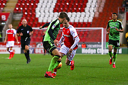 Gary Sawyer of Plymouth Argyle stops an attack from Ryan Williams of Rotherham United - Mandatory by-line: Ryan Crockett/JMP - 16/12/2017 - FOOTBALL - Aesseal New York Stadium - Rotherham, England - Rotherham United v Plymouth Argyle - Sky Bet League One