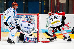 26.12.2013, Hostan Arena, Zneim, CZE, EBEL, HC Orli Znojmo vs EHC Black Wings Linz, 58. Runde, im Bild Lorenz Hirn (Linz #33) Daniel Oberkofler (Linz #74) Andrew Hedlund (Linz #6) // Lorenz Hirn (Linz #33) Daniel Oberkofler (Linz #74) Andrew Hedlund (Linz #6) during the Erste Bank Icehockey League 58th round match between HC Orli Znojmo and EHC Black Wings Linz at the Hostan Arena in Zneim, Czech Republic on 2013/12/26. EXPA Pictures © 2013, PhotoCredit: EXPA/ Rostislav Pfeffer