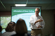 The Rev. Dr. Darrell Zimmerman, Grace Place vice president and program director, leads a presentation during the Grace Place Deaconess retreat on Wednesday, Oct. 8, 2014, at the Mercy Conference and Retreat Center in Frontenac, Mo. LCMS Communications/Erik M. Lunsford