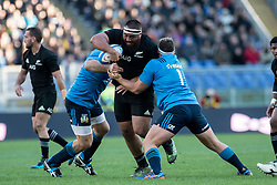 November 12, 2016 - Rome, Italy - Charlie Faumuina of New Zealand is takeled by Andrea Lovotti of Italy  during the International Match between Italy and New Zealand at Stadio Olimpico, Rome, Italy on 12 November 2016. Photo by Giuseppe Maffia. (Credit Image: © Giuseppe Maffia/NurPhoto via ZUMA Press)