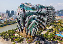 March 28, 2019 - Sanya, China - The Beauty Crown Grand-Tree Hotel looking like a forest in Sanya, south China's Hainan Province. Beauty Crown Hotel features nine enormous tree-like structures, holding dozens of hotel rooms. (Credit Image: © SIPA Asia via ZUMA Wire)