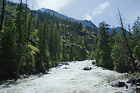 Icicle Creek in May Cascade Mountains Washington USA&#xA;<br />