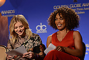 73rd Annual Golden Globe Awards Nominations<br /> <br /> CHLOE GRACE MORETZ + ANGELA BASSETT at the 73rd Annual Golden Globe Awards Nominations held @ the Beverly Hilton hotel. December 10, 2015<br /> ©Exclusivepix Media