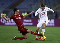 February 3, 2019 - Rome, Italy - AS Roma v AC Milan - Serie A.Patrik Schick of Roma and Ricardo Rodriguez of Milan at Olimpico Stadium in Rome, Italy on February 3, 2018. (Credit Image: © Matteo Ciambelli/NurPhoto via ZUMA Press)