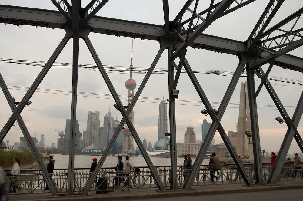 Pudong skyline across the Yangtse River, Shanghai Pudong skyline and the Yangtse River