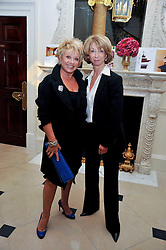 Left to right, ELAINE PAIGE and HELEN WORTH at a party to celebrate the publication of Gosling - Classic Design for Contemporary Interiors by Tim Gosling held at William Kent House, The Ritz Hotel, London on 1st October 2009.