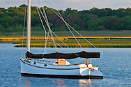 Catboat, South Fork, Springs, Accabonac Harbor, Long Island, New York
