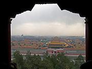 the Forbidden City seen from Jingshan Park Beijing China