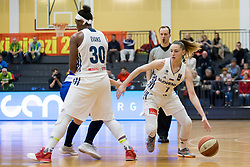 Rebeka Abramovic of Slovenia during basketball match between National teams of Slovenia and Romania in 4. round of FIBA Women's EuroBasket 2019 Qualifiers, on February 14, 2018 in Dvorana Gimnazija Celje - Center, Slovenia. Photo by Urban Urbanc / Sportida