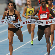 MONTANO - 13USA, Des Moines, Ia. - Alysia Montano held on for the win in the 800 despite a late charge by Brenda Martinez.  Photo by David Peterson
