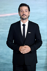 Diego Luna attending the Rogue One: A Star Wars Story Premiere, at the Tate Modern, London. Picture Credit Should Read: Doug Peters/EMPICS Entertainment