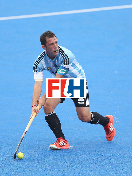 LONDON, ENGLAND - JUNE 24:  Pedro Ibarra of Argentina in action during the semi-final match between Argentina and Malaysia on day eight of the Hero Hockey World League Semi-Final at Lee Valley Hockey and Tennis Centre on June 24, 2017 in London, England.  (Photo by Steve Bardens/Getty Images)