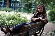 Frankfurt am Main | 30.08.2012..Ewa Müller, Künstlername Schwesta Ewa, Ex-Prostituierte und jetzt Rapperin (Sängerin Rap und Hip Hop), Portrait in einem Park im Westend Frankfurt...©peter-juelich.com..[No Model Release | No Property Release]