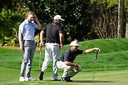 Daniel Berger (USA), Graeme McDowell (NIR) and Chez Reavie (USA) during Round 1 of the Players Championship, TPC Sawgrass, Ponte Vedra Beach, Florida, USA. 12/03/2020<br /> Picture: Golffile | Fran Caffrey<br /> <br /> <br /> All photo usage must carry mandatory copyright credit (© Golffile | Fran Caffrey)