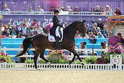 Lyle, Adrienne, Wizard<br /> London - Olympische Spiele 2012<br /> <br /> Dressur Grand Prix de Dressage<br /> © www.sportfotos-lafrentz.de/Stefan Lafrentz