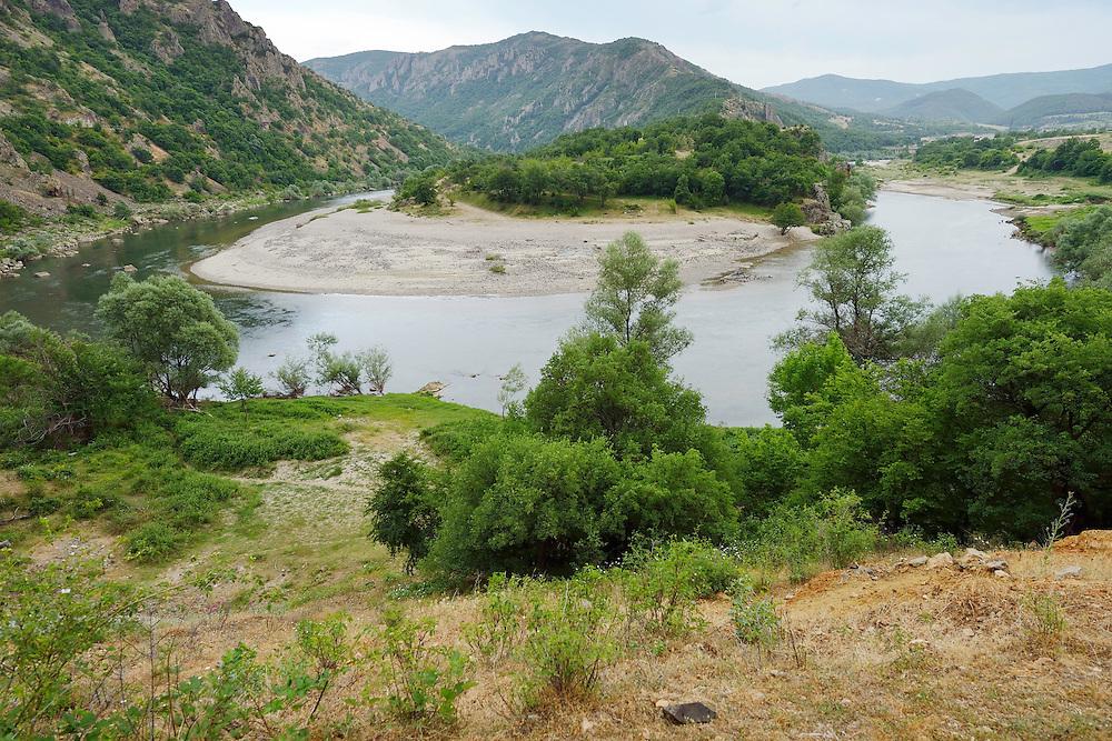 Arda river Canyon bend, Madzharovo, Eastern Rhodope mountains, Bulgaria