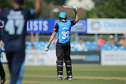 Martin Guptil of Worcestershire Rapids reaches 50 during the Natwest T20 Blast North Group match between Derbyshire County Cricket Club and Worcestershire County Cricket Club at the 3aaa County Ground, Derby, United Kingdom on 8 July 2018. Picture by Mick Haynes.