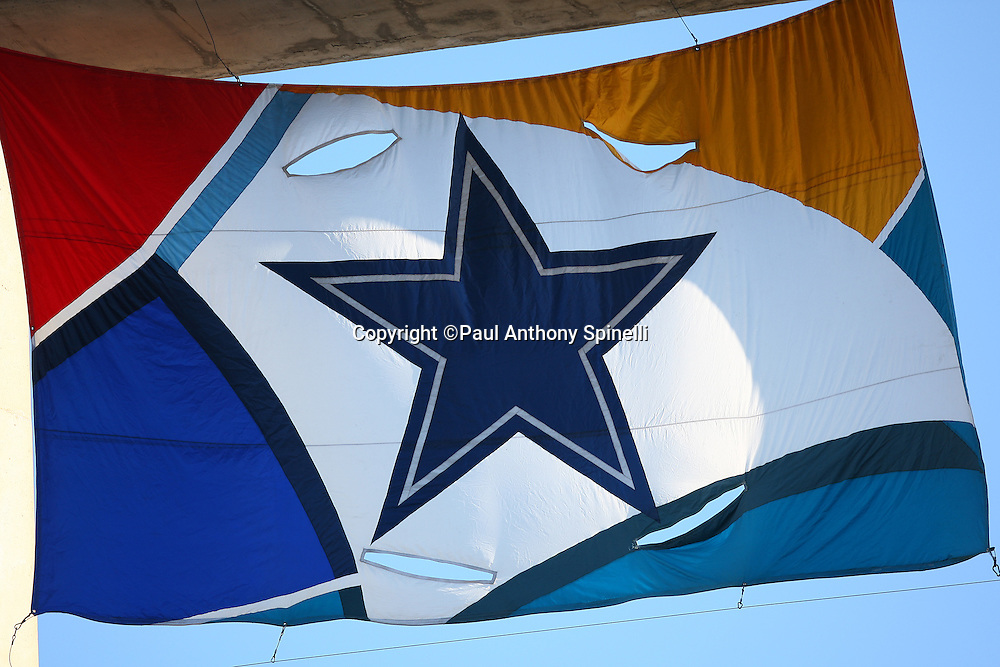 SAN DIEGO, CA - AUGUST 09:  A Dallas Cowboys flag flies over the field during the preseason game against the San Diego Chargers at Qualcomm Stadium on August 9, 2008 in San Diego, California. The Chargers defeated the Cowboys 31-17. ©Paul Anthony Spinelli