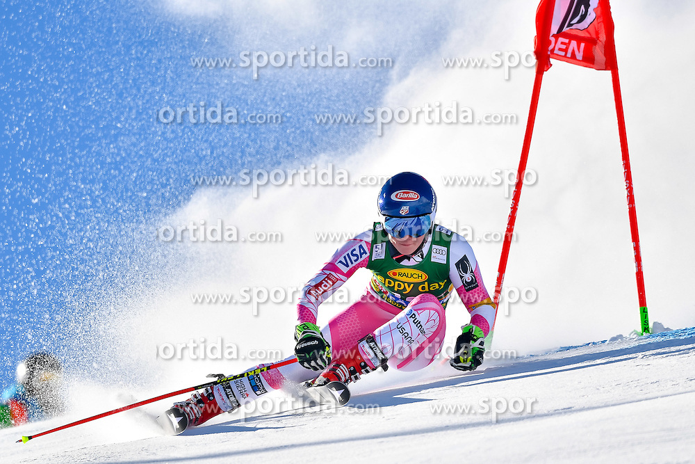 22.10.2016, Rettenbachferner, Soelden, AUT, FIS Weltcup Ski Alpin, Soelden, Riesenslalom, Damen, 1. Durchgang, im Bild Mikaela Shiffrin (USA) // Mikaela Shiffrin of the USA in action during 1st run of ladies Giant Slalom of the FIS Ski Alpine Worldcup opening at the Rettenbachferner in Soelden, Austria on 2016/10/22. EXPA Pictures &copy; 2016, PhotoCredit: EXPA/ Nisse Schmid<br /> <br /> *****ATTENTION - OUT of SWE*****