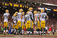 12 January 2013: The Green Bay Packers against the San Francisco 49ers during the first half of the 49ers 45-31 victory over the Packers in an NFL Divisional Playoff Game at Candlestick Park in San Francisco, CA.