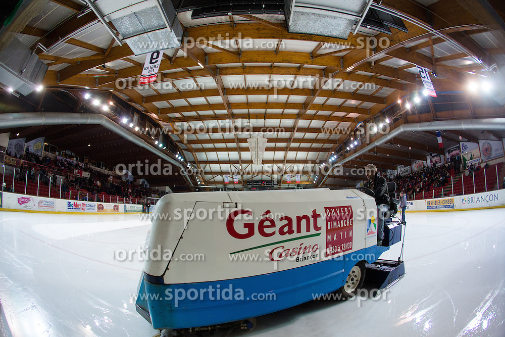 Ice machine zamboni during Ligue Mganus ice-hockey match between HC Briancon and IC Epinal on January 19, 2014 in Patinoire Rene Froger Arena, Briancon, France. Photo by Matic Klansek Velej / Sportida.com
