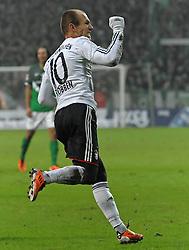 29-01-2011 VOETBAL: WERDER BREMEN - BAYERN MUNCHEN: BREMEN<br /> Arjen Robben (Muenchen #10) scores<br /> ***NETHERLANDS ONLY***<br /> ©2010- FRH-nph / Frisch
