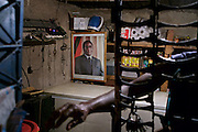 A portrait of Zimbabwean President Robert Mugabe hangs in a shop near Harare. <br /> <br />  Pictures shot by Justin Jin
