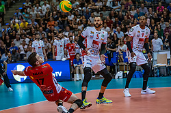 18-05-2019 GER: CEV CL Super Finals Zenit Kazan - Cucine Lube Civitanova, Berlin<br /> Civitanova win the Champions League by beating Zenit in four sets / Fabio Balaso #17 of Cucine Lube Civitanova, Osmany Juantorena Portuondo #5 of Cucine Lube Civitanova, Yoandy Leal Hidalgo #9 of Cucine Lube Civitanova