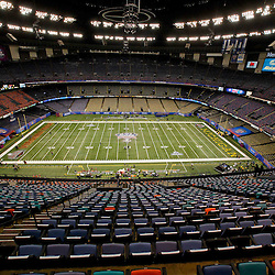 January 3, 2012; New Orleans, LA, USA;  A general view of the playing field for the Sugar Bowl between the Michigan Wolverines and the Virginia Tech Hokies at the Mercedes-Benz Superdome.  Mandatory Credit: Derick E. Hingle-US PRESSWIRE
