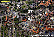 aerial photograph of Margaret Street York Yorkshire England UK   Drone style aerial view taken in York Great Britain