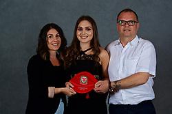 NEWPORT, WALES - Saturday, May 19, 2018: Lucia Molinari and family during the Football Association of Wales Under-16's Caps Presentation at the Celtic Manor Resort. (Pic by David Rawcliffe/Propaganda)