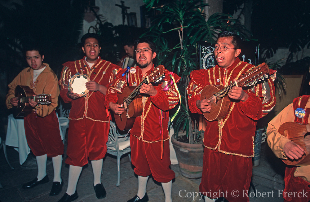 "MEXICO, SAN MIGUEL ALLENDE ""tuna"" student musicians performing"