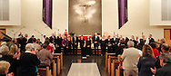 The members of Jubilee receive special recognition following their final performance of 'The Way of the Cross' at St. Luke Catholic Parish in Beavercreek, Friday, March 30, 2012.  Formed in 1997, this was their final performance as a group.  They have raised and donated more than $10,000 to charities including the Catholic Social Services and a youth ministry, according to Karen King, director of the worship office of the Archdiocese of Cincinnati.  King added, 'clearly, their music making, their praying with us, was not about them.'