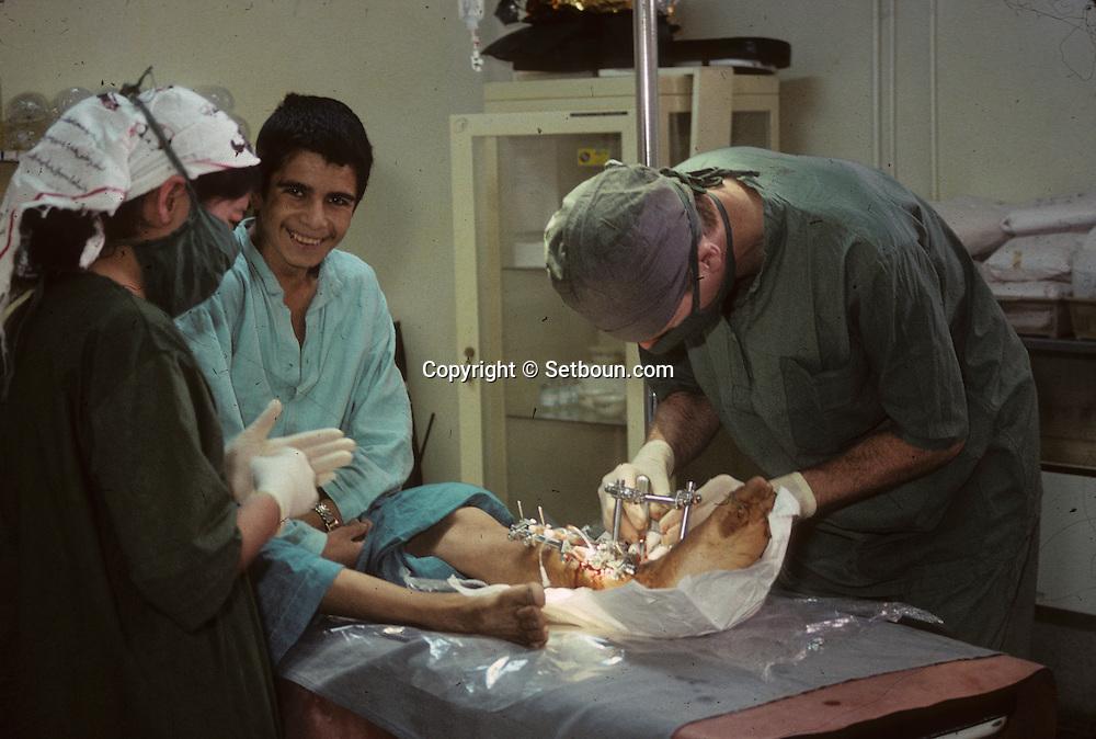 Afghanistan. ICRC hospital.  Kabul  Afghanistan / hÙpital du C.I.C.R. ‡ Kaboul blesses de guerre  Kaboul  Afghanistan   /     L0007423  /  R00020  /  P111221