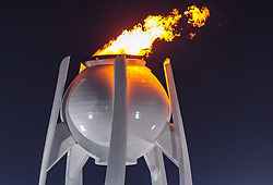 09.02.2018, Olympic Stadium, Pyeongchang, KOR, PyeongChang 2018, Eröffnungsfeier, im Bild das olympische Feuer // the Olympic flame during the Opening Ceremony of the Pyeongchang 2018 Winter Olympic Games at the Olympic Stadium in Pyeongchang, South Korea on 2018/02/09. EXPA Pictures © 2018, PhotoCredit: EXPA/ Johann Groder