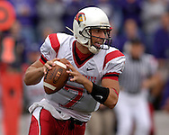 Illinois State quarterback Luke Drone rolls outside against Kansas State at Bill Snyder Family Stadium in Manhattan, Kansas, September 2, 2006.  The Wildcats beat the Redbirds 24-23.