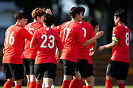 SYDNEY, NSW - FEBRUARY 28: Korea Republic celebrate their goal from Hwayeon Son (17) at The Cup of Nations womens soccer match between Argentina and Korea Republic on February 28, 2019 at Leichhardt Oval, NSW. (Photo by Speed Media/Icon Sportswire)