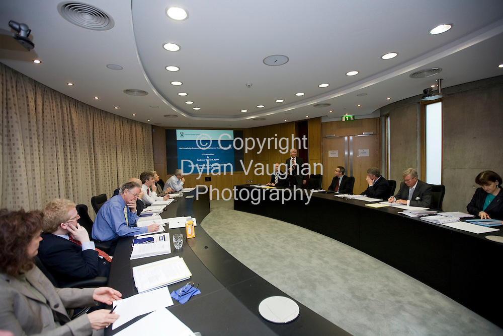 7/11/2008.free picture no charge for use .Prof Kieran R. Byrne, Director of Waterford Institute of Technology addresses  the National Tourism Development Authority as they met in the new EUR25 million tourism and leisure education building at the Institute..Picture Dylan Vaughan.
