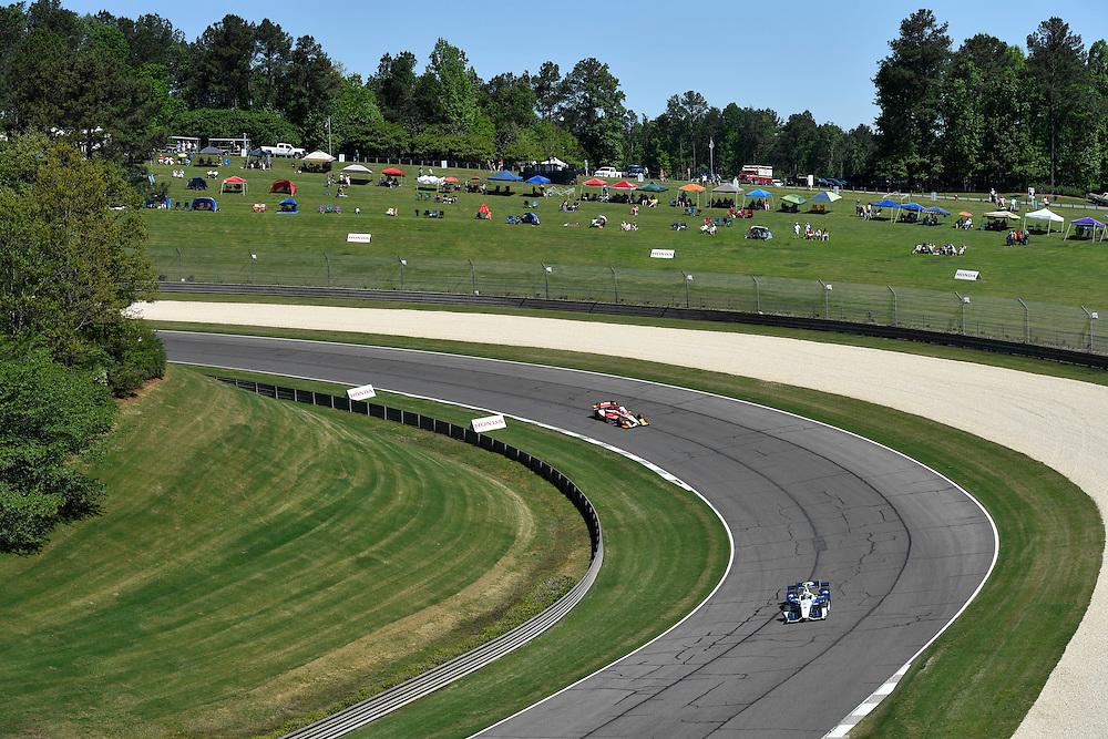 22-24 April, 2016, Birmingham, Alabama USA <br /> 8 Max Chilton, 27 Marco Andretti<br /> &copy;2016, Scott R LePage <br /> LAT Photo USA
