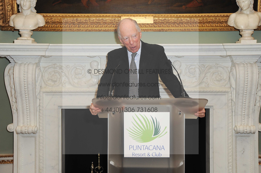 A party to promote the exclusive Puntacana Resort & Club - the Caribbean's Premier Golf & Beach Resort Destination, was held at Spencer House, London on 13th May 2010.<br /> <br /> Picture shows:- LORD ROTHSCHILD