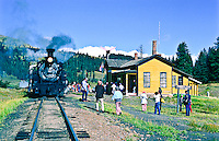 Cumbers & Toltec Scenic Railroad.  The train stops at 10,015 ft. Cumbres Pass between Antonito, CO and Chama NM.