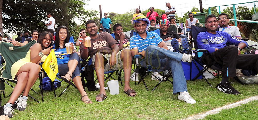 Fans during match 17 of the Karbonn Smart CLT20 South Africa between The Chennai Superkings and Yorkshire held at Kingsmead Park in Durban, South Africa on the 22nd October 2012..Photo by Gerhard Duraan/SPORTZPICS/CLT20