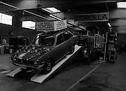 Toyota roll out 10,000th car assembled in Ireland..(L18)..1977..26.05.1977..05.26.1977..26th May 1977..Today saw the rolling out of the 10,000th car to come off the assembly line at Toyota Irl.,Ltd. The car,a Corolla,is part of a range that has made Toyota the fourth best selling range of cars in Ireland..The new Toyota Corolla is pictured before the official roll out.