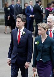 © Licensed to London News Pictures. 20/06/2016. London, UK. Members of Parliament, including former Labour Party leader ED MILIBAND and YVETTE COOPER MP arrive at St Margaret's Church, Westminster Abbey to take part in a Service of Prayer and Remembrance to commemorate Jo Cox MP, who was killed in her constituency on June 16, 2016. Photo credit: Peter Macdiarmid/LNP