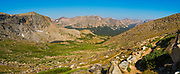 Morning on the Bears Ears Trail above  Little Valentine Lake, Shoshone National Forest, Wind River Range, Wyoming.